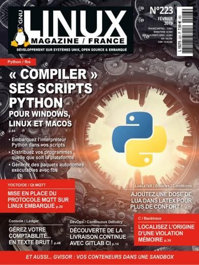 «Compiler» ses scripts Python Pour Windows, Linux et macOSEmbarquez l'interpréteur Python dans vos scripts Distribuez vos programmes quelle que soit la plateforme Générez des paquets autonomes exécutables avec fbs