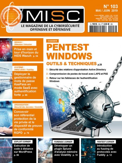 Pentest Windows : Outils & techniquesSécurité des relations d'approbation Active Directory Compromission de postes de travail avec LAPS et PXE Retour sur les faiblesses de l'authentification Windows