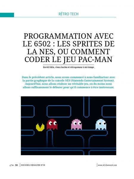 (NES) tutoriel programmation pac-man Hackable-magazine-36
