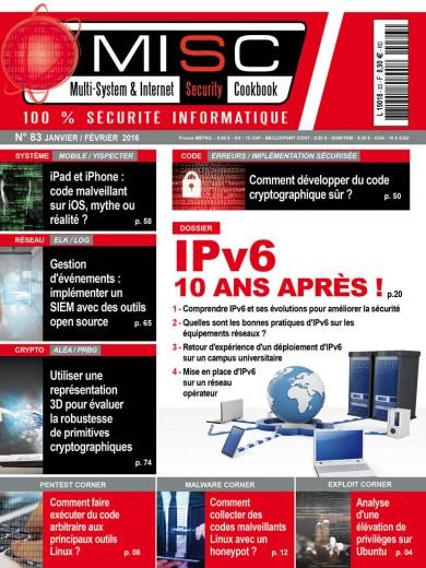 IPv6 : 10 ans après ! 1 - Comprendre IPv6 et ses évolutions pour améliorer la sécurité 2 - Quelles sont les bonnes pratiques d'IPv6 sur les équipements réseaux ?3 - Retour d'expérience d'un déploiement d'IPv6 sur un campus universitaire4 - Mise en place d'IPv6 sur un réseau opérateur