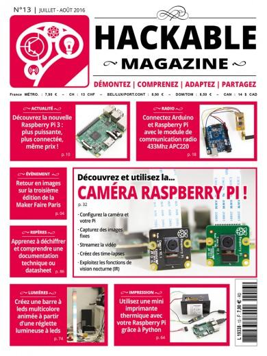 Découvrez et utilisez la...Caméra Raspberry Pi!· Configurez la caméra et votre Pi· Capturez des images fixes· Streamez la vidéo· Créez des time-lapses· Exploitez les fonctions de vision nocturne (IR) Période : Juillet - Août 2016