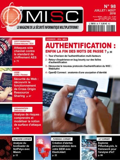 Authentification : enfin la fin des mots de passe?Tour d'horizon de l'authentification multi-facteurs Retour d'expérience en bug bounty sur des failles d'authentification Découvrez le nouveau protocole d'authentification du W3C: WebAuthn OpenID Connect: anatomie d'une usurpation d'identité