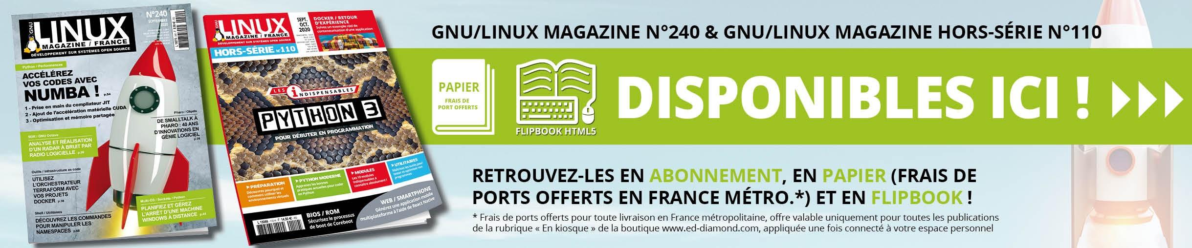 GNU/Linux Magazine 240 et son Hors-Série n°110