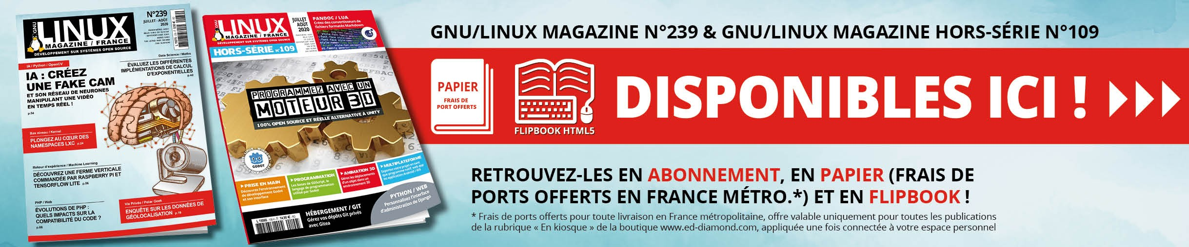 GNU/Linux Magazine 239 et son Hors-Série n°109