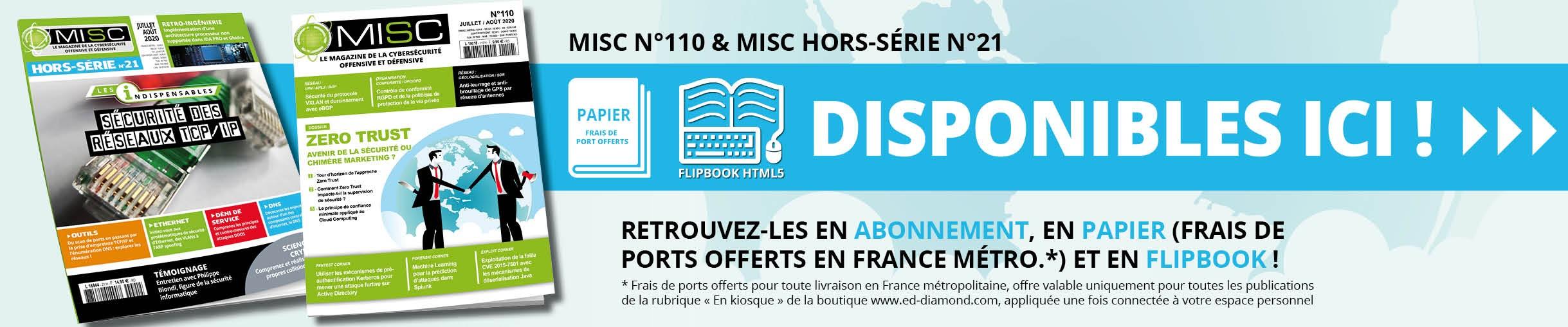 MISC n°110 et son Hors-Série n°21