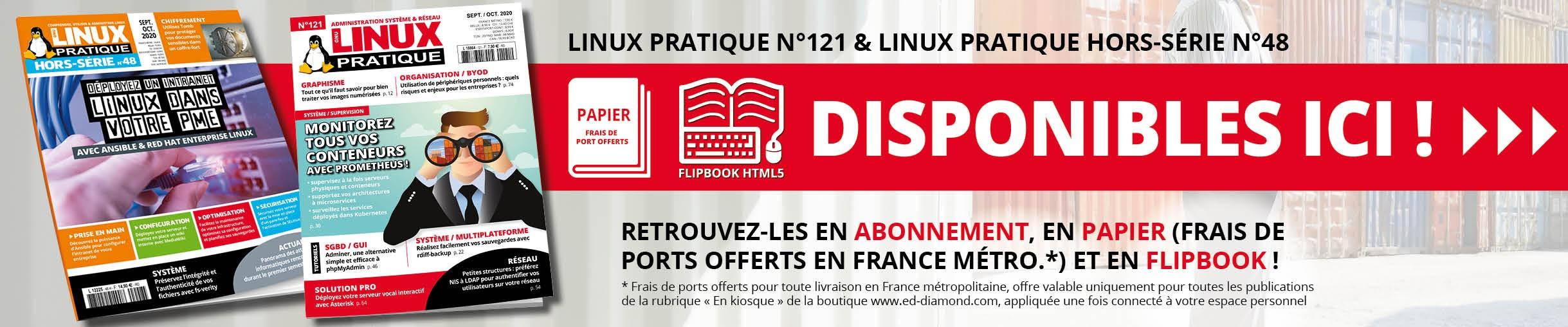 Linux Pratique n°121 et son Hors-Série n°48